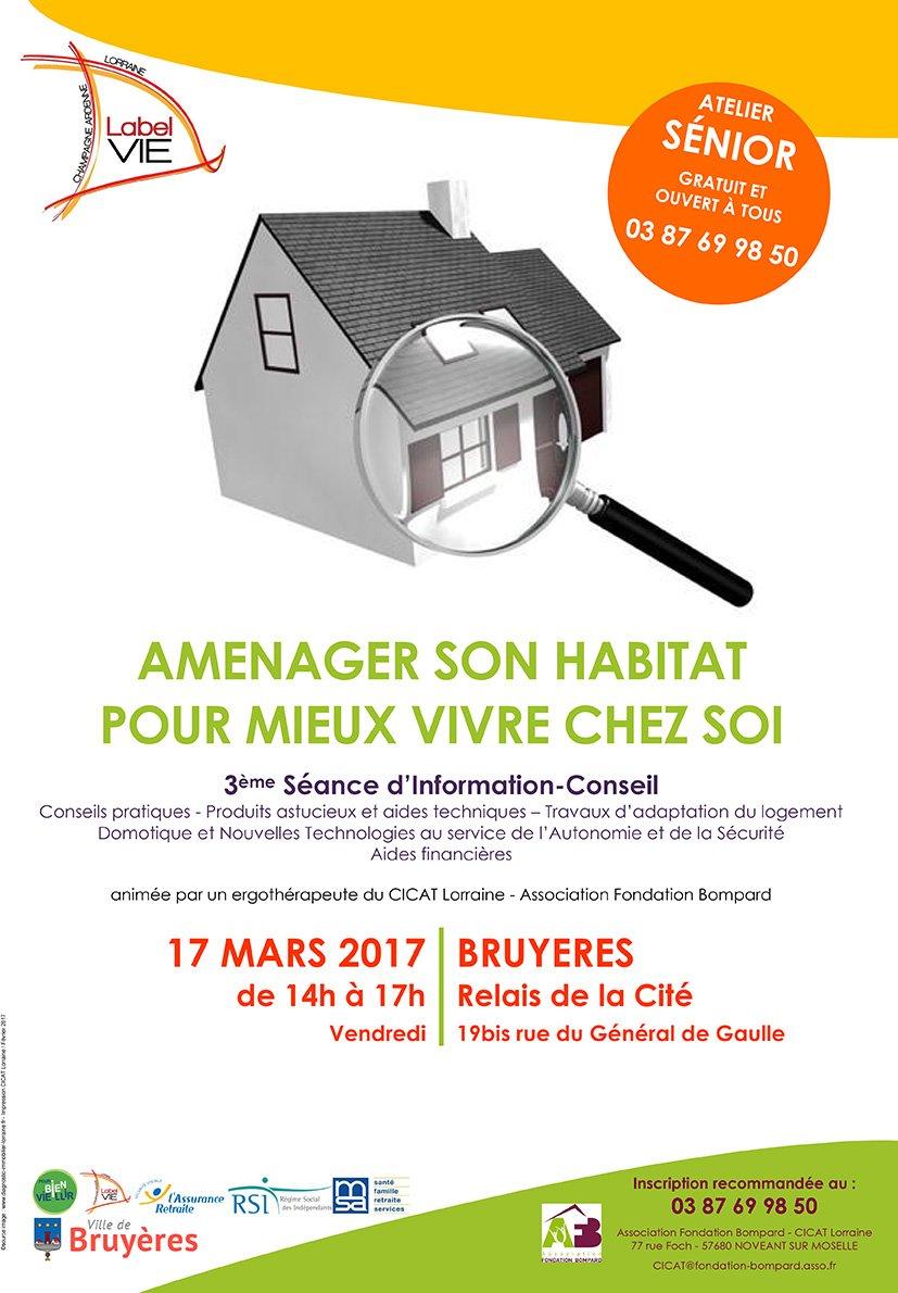 atelier aménager son habitat en mars à Bruyères